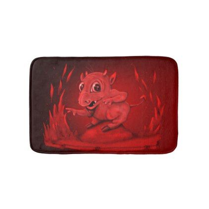 #BIDI ALIEN DEVIL wash Small Bath Mat - #Bathroom #Accessories #home #living