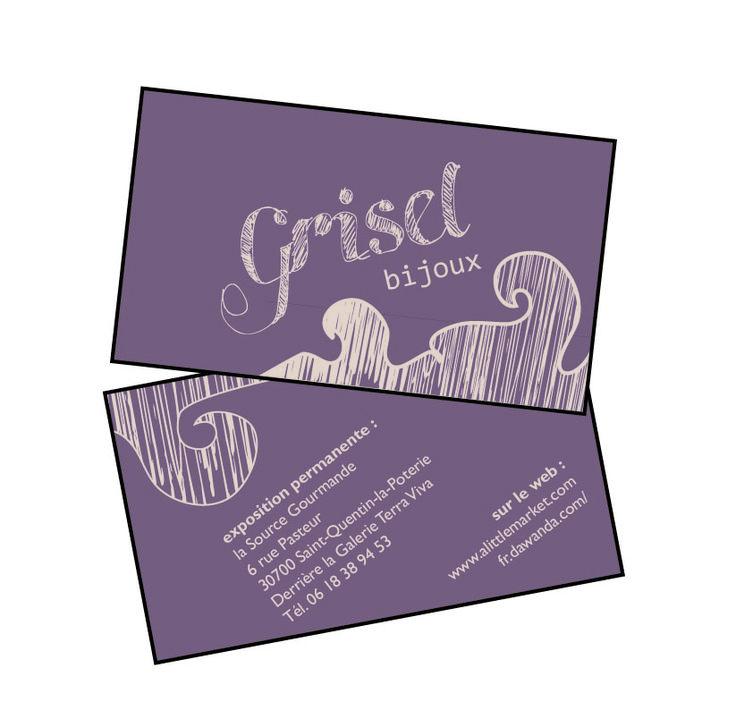 Grisel, bijoux fantaisies : carte de visite