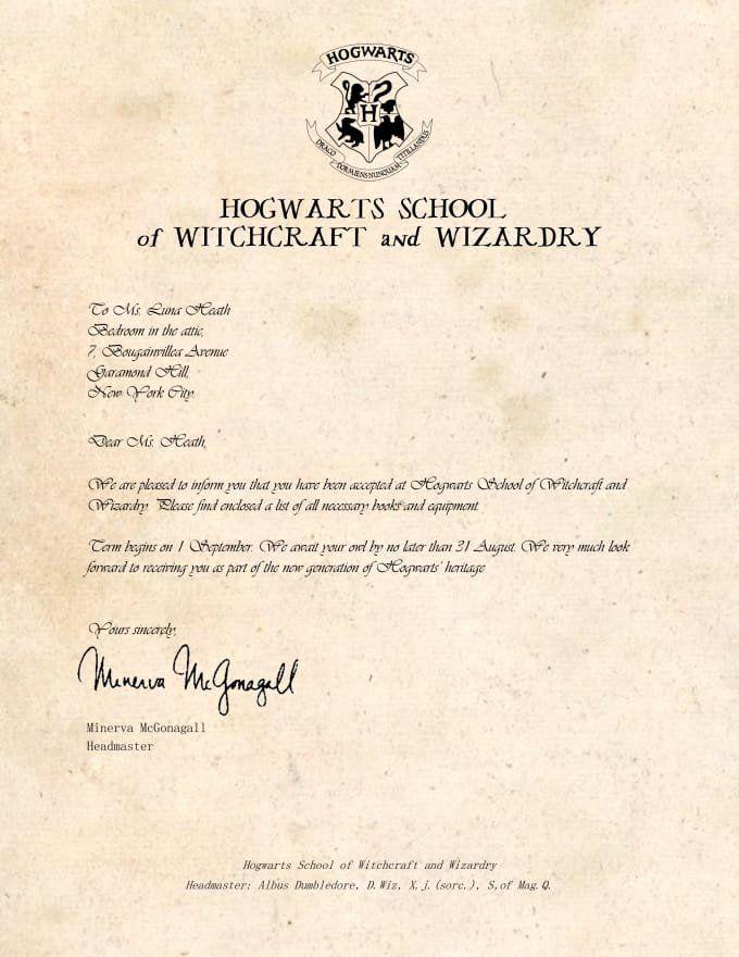 Hogwarts Acceptance Letter By Legiondesign On Deviantart Ozllhaed