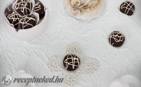 Mogyoróvajas-csokoládés golyó recept fotóval