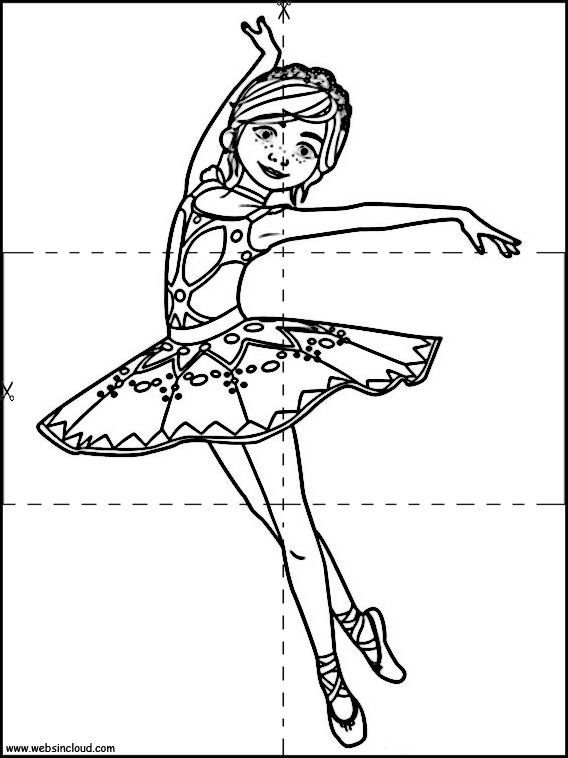 Imprimer Ballerina Puzzle 12 Coloriage Danseuse Coloriage Coloriage Etoile