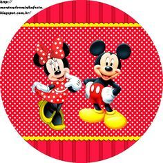 Minnie y Mickey: Etiquetas Gratis para Candy Bar.