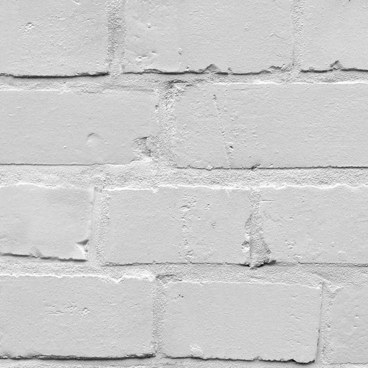 white brick effect wallpaper exposed walls pinterest