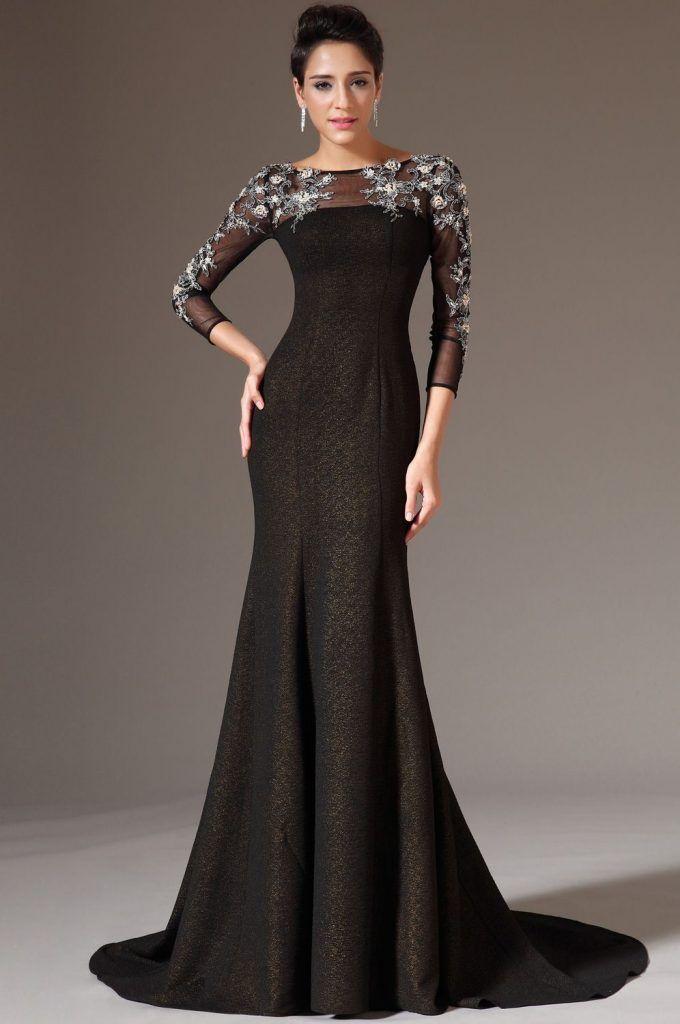 Dlhé zlato čierne spoločenské šaty  72afd0005d9