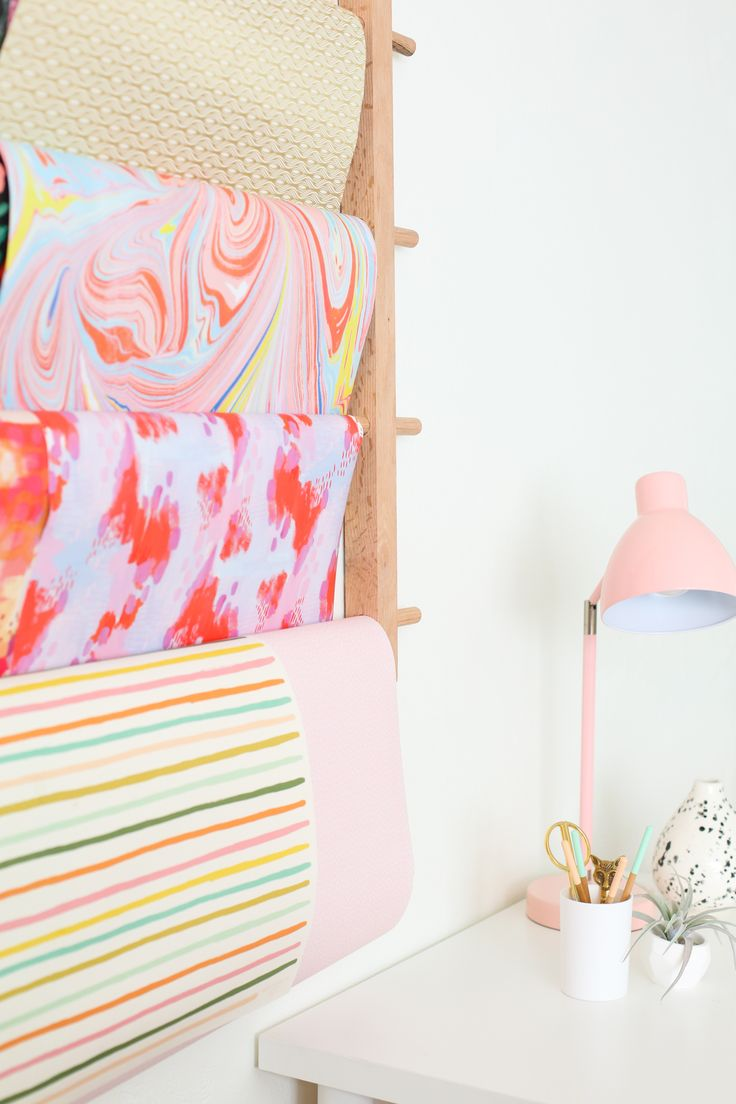How to Make a Hanging Organizer for All Your Wrapping Paper...