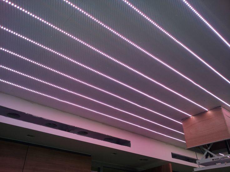 led strips in en span plafond met dmx aansturing led strips pinterest led strip met and led. Black Bedroom Furniture Sets. Home Design Ideas