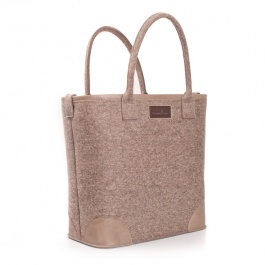 Burning Love | Stylish shopper-tote made of 100% wool-felt and leather.