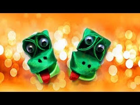Поделки для детей своими руками.Зверюшки для детей.Поделка крокодильчик из лент. - YouTube