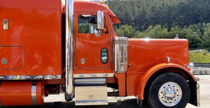 Trucks Custom Big Rig Orange : Custom orange chrome out big rig trucks