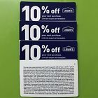 Two (2) Lowes 10% Off Coupons Expire 3/31/2018