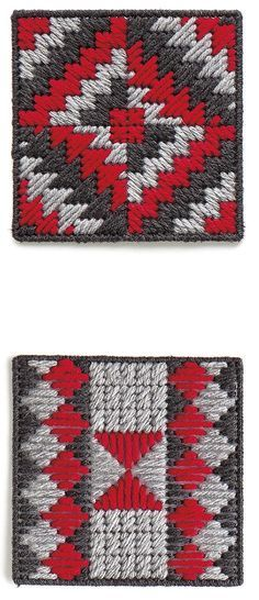 Teach Yourself Plastic Canvas - Learn all about stitching on plastic canvas while making an attractive coaster set. Teach Yourself Plastic Canvas from Leisure Arts includes easy beginner lessons and a gallery of 30 stitches. Step-by-step instructions teach the basics, from selecting canvas mesh size, yarn weight, and needles to cutting canvas shapes and learning a variety of stitches. The final lessons take you through creating a coaster set (with a storage box and eight different coaster…