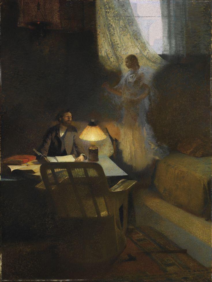 Henri Jean Guillaume Martin -  Le Philosophe ou l'Iinspiration du poete  The philosopher or inspiration of the poet, 1888