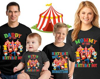 Circus Birthday Shirt Personalized Carnival Boy Family Matching Shirts CST10