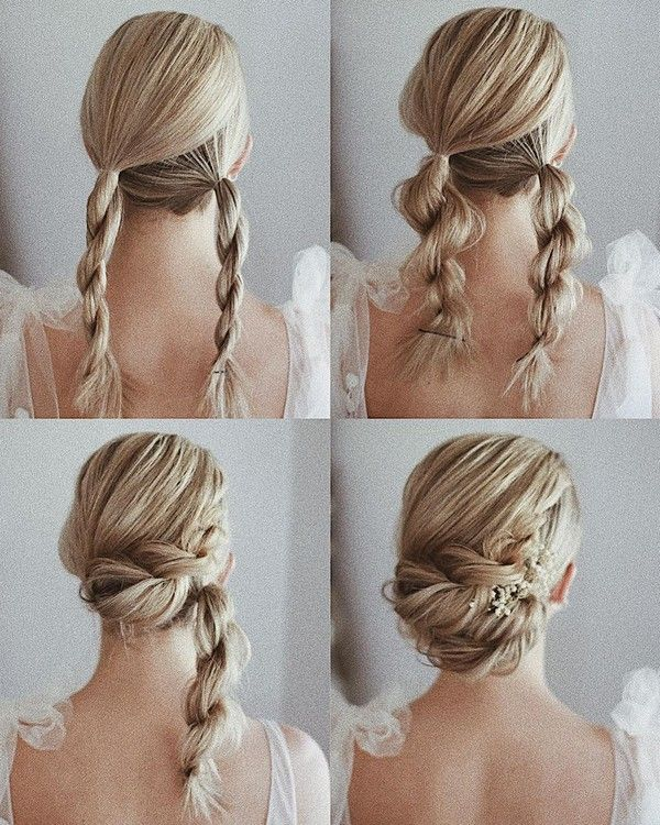 Wedding Hairstyle Tutorial for Long Hair from Ulyana.aster #diy #wedding #weddinghairstyles #hairstyles