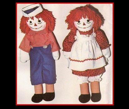 Make a do-it-yourself Raggedy Ann and Andy couples costume for Halloween