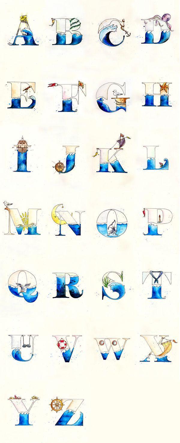 ABC's with nautical theme . . .