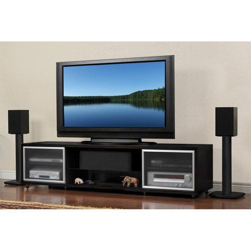 Have to have it. Plateau SRV Series 75 Inch TV Stand in Black - $884.99 @hayneedle.com