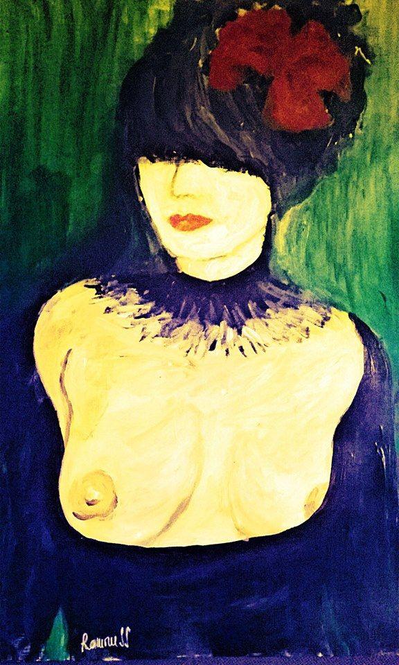 Sensual-30x42cm,acrylic,by Ramoness