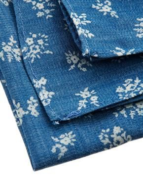 Image 4 ofASOS Chambray Pocket Square With Floral