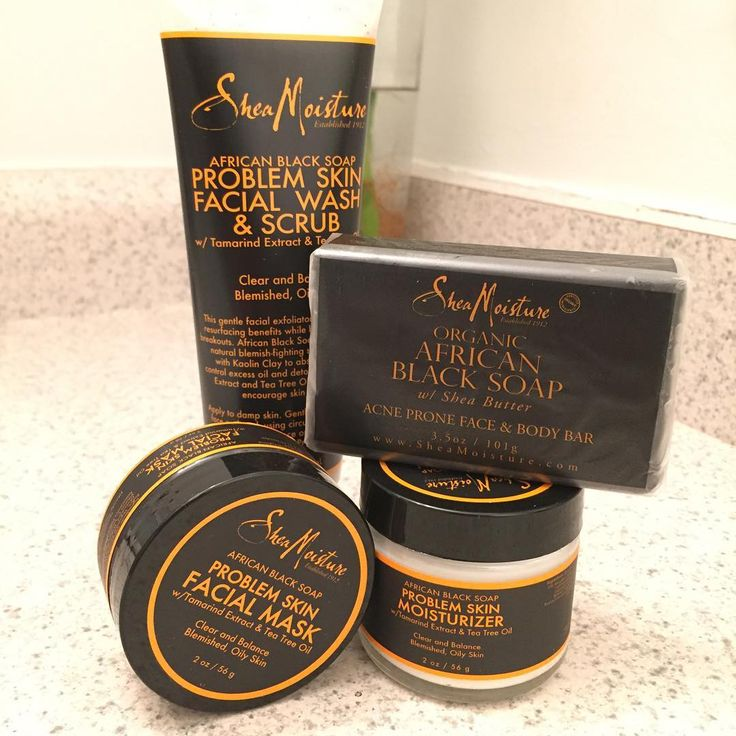 SheaMoisture Jamaican Black Soap Face Care <3 Has cleared up my skin like nothing else could.