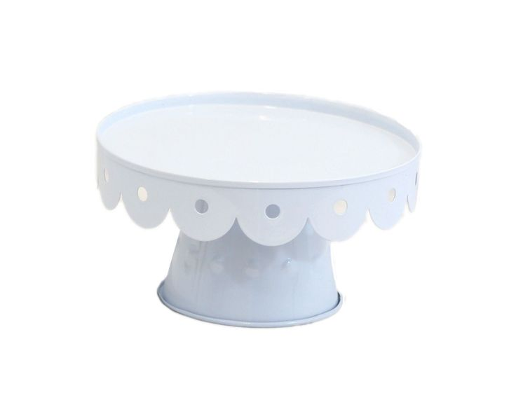 Medium white scalloped cake stand scalloped cake stand