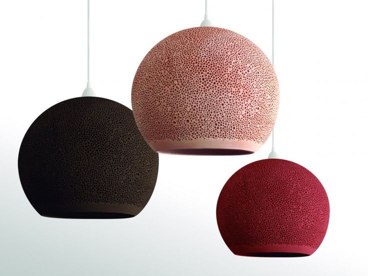 Brown, pink and red  -  SpongeUP Lamps by POTT