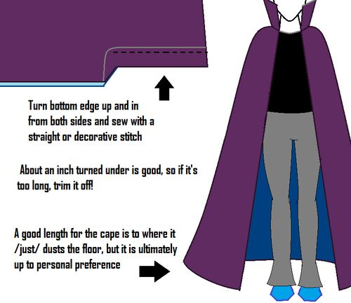Eridan Ampora Cape Tutorial    stand up / high collar  cape