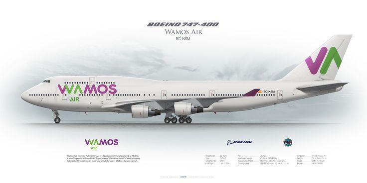 https://flic.kr/p/MDP9v6 | Boeing 747-400 Wamos Air EC-KSM | www.aviaposter.com