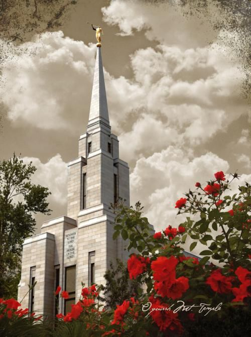 Oquirrh Mountain Temple ~ so different than pictures I've taken of it.