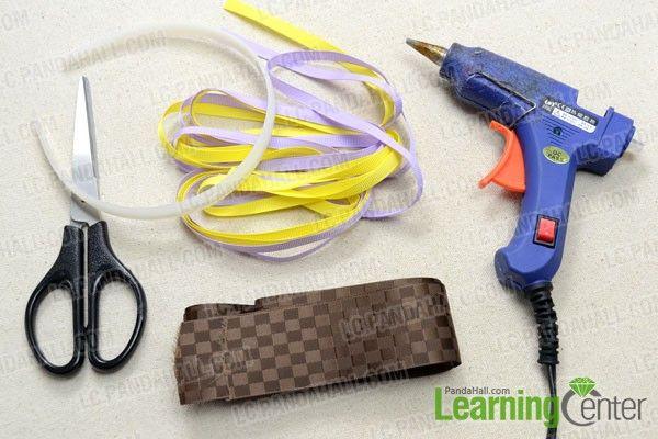 Headband from ribbon