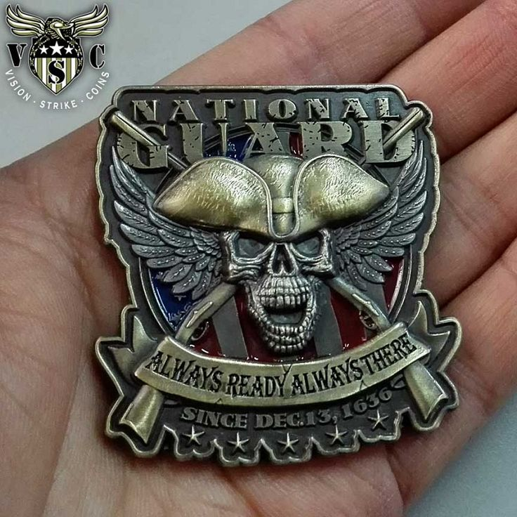 US Army National Guard Always Ready Always There Coin