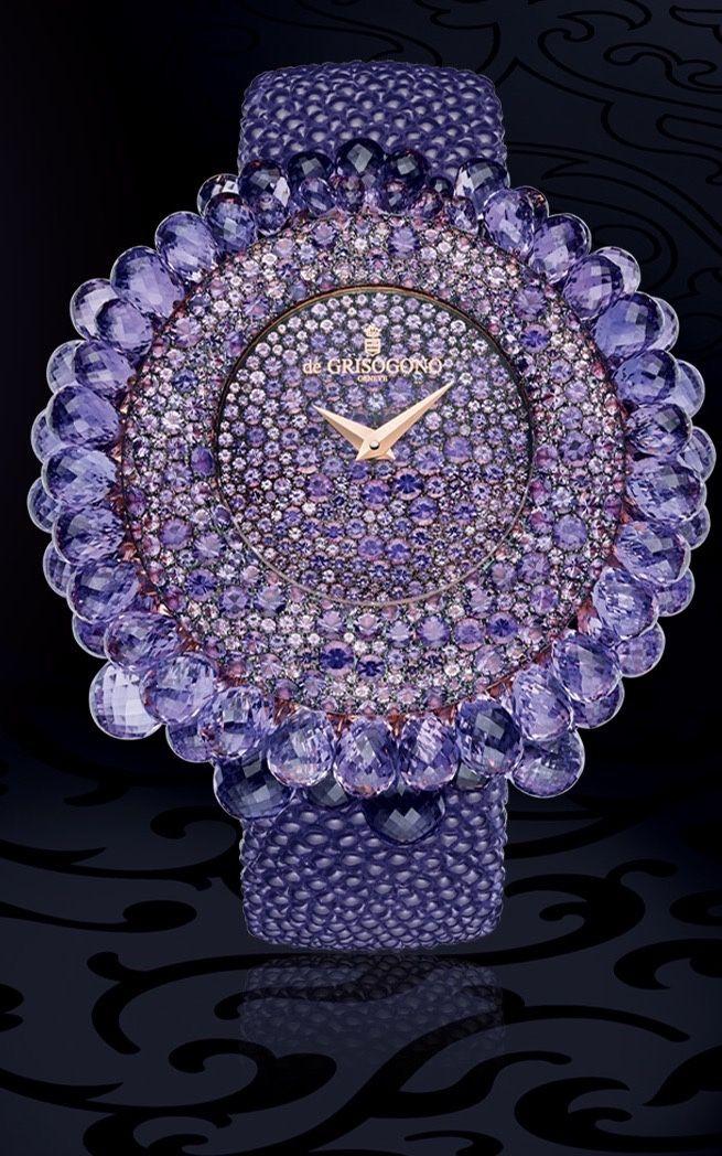 de Grisogono Purple Jeweled Watch