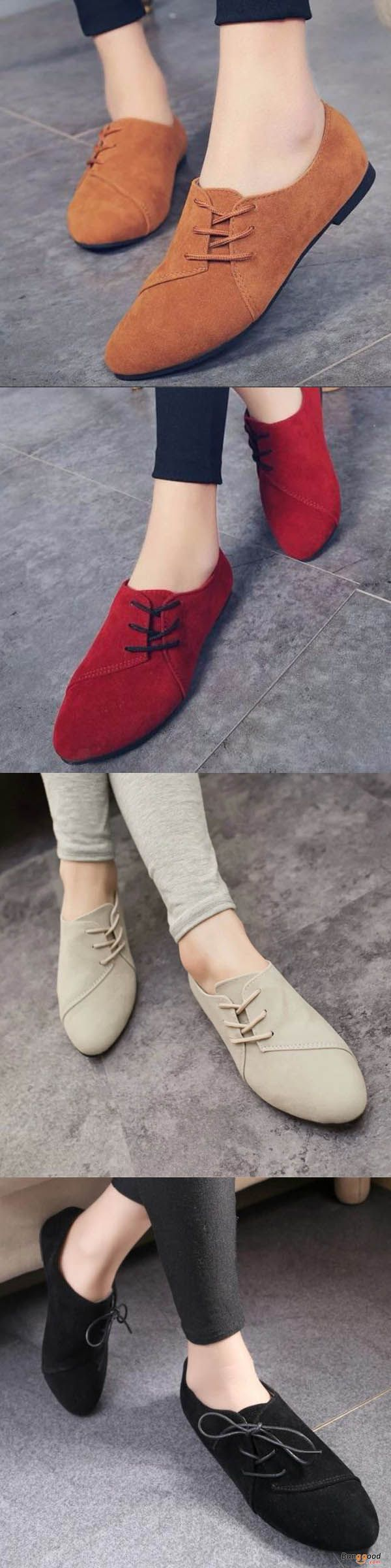 US$17.99+ Free shipping. Women Casual Leather Slip On Outdoor Flat Loafers. flat shoes, womens flats, slip on shoes, suede shoes, suede loafers, fall style, fall shoes, winter shoes, woman fashion, casual style. Buy now!