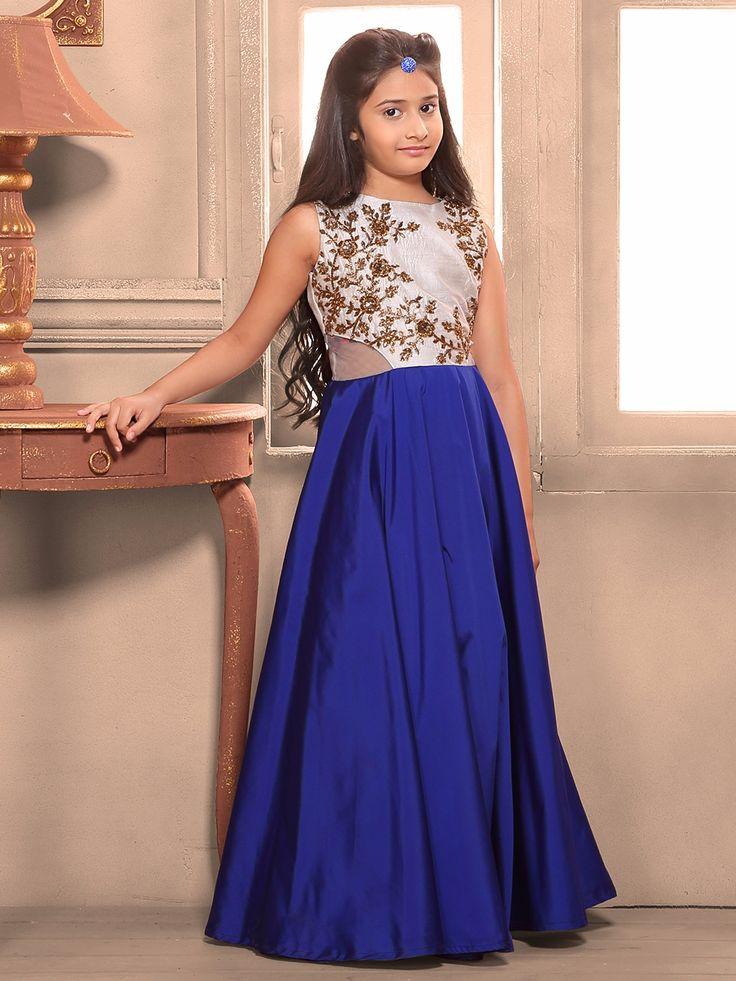 Royal Blue Silk Gown. To View more collection at www.g3fashion.com For price or detail do whatsApp +91-9913433322. #bigfatindianwedding #weddi #gown #girlsethnicwear#girllehengacholi #girlsgown #pinkdress #g3fashion #g3 #pink #grey #princess #princessgown #littledarlings #cute #pretty #indianwedding #indianfashion #festive #festivecollection #festival #eid #instalike #instadaily #picoftheday #outfitoftheday