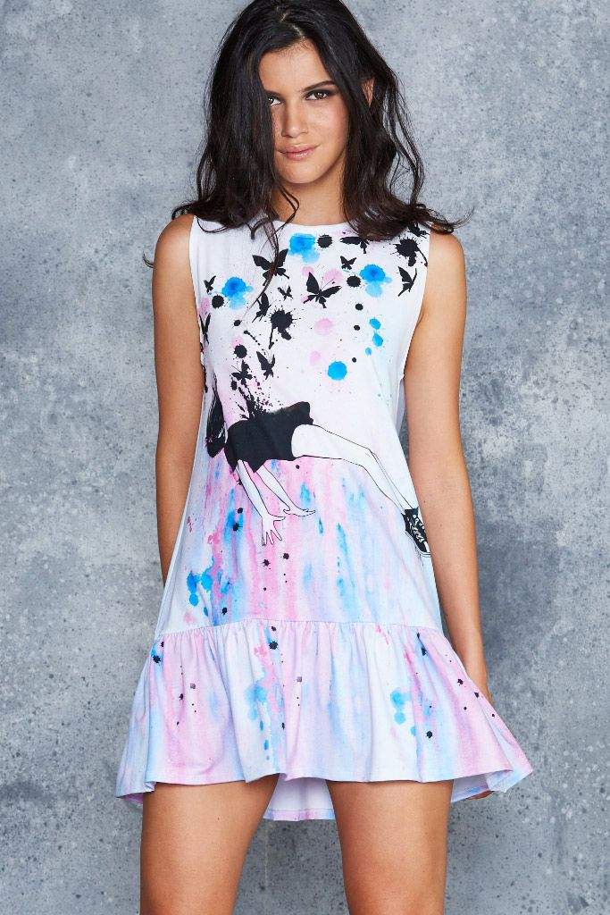 Out Of Gravity Friller Dress - CAPPED PRESALE ($110AUD) by BlackMilk Clothing