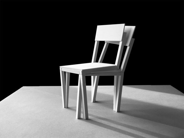 Siam chair Not Bent- Perhaps completely digital. Fabian Buergy