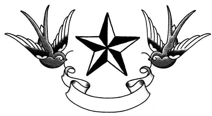 punk star tattoos on wrist with initials   old school tattoo design by tattoosuzette lionk star designs