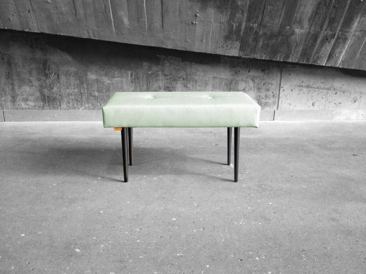 BENCH | take a seat | fresh mint with black lacquer legs www.benchtakeaseat.com