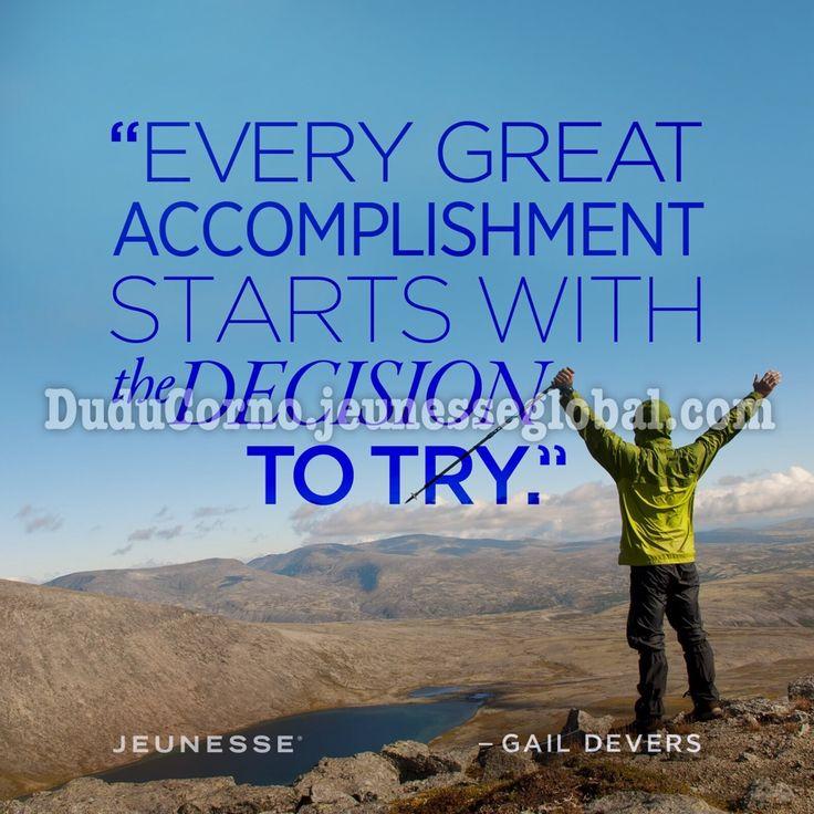 Ogni grande successo, comincia dalla decisione di provarci...  http://goo.gl/prVBHC