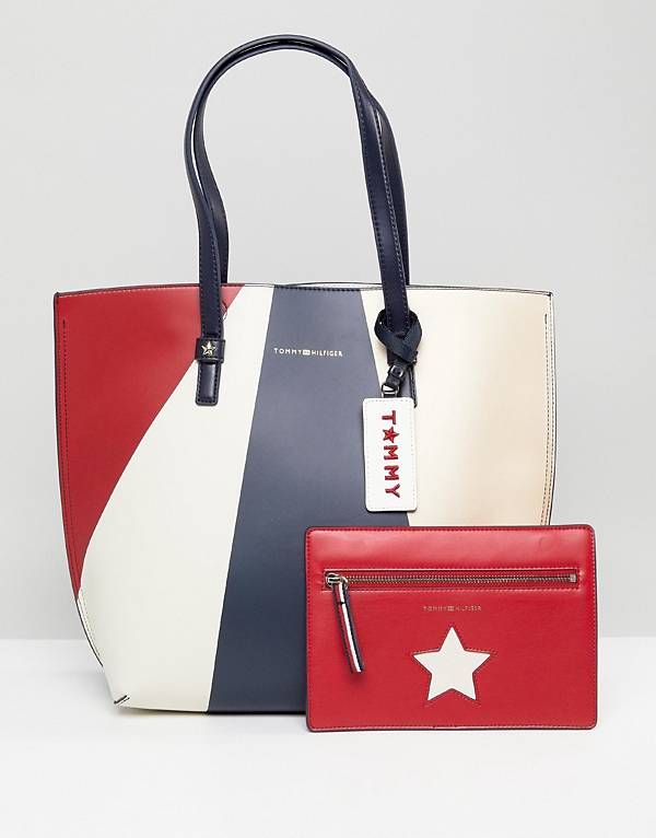 9f236e4bb88b1 Tommy Hilfiger Multi Tote Bag with Pouch