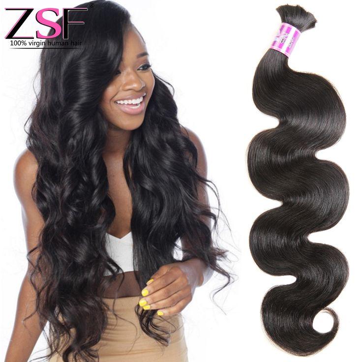8a Top Quality Unprocessed Brazilian Virgin Hair  Body Wave  Human Braiding Hair Bulk No Weft Mix Length Human Hair For Braiding
