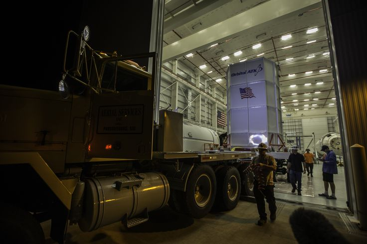 Orbital ATK's Cygnus spacecraft arrived at the Horizontal Integration Facility at NASA's Wallops Flight Facility in Virginia for mating with the Antares rocket in preparation for its Oct. 13, 2016 launch. Dubbed the S.S. Alan Poindexter, in tribute to a space shuttle veteran, this Cygnus spacecraft will carry about 5,100 pounds of cargo to the International Space Station. Credits: NASA
