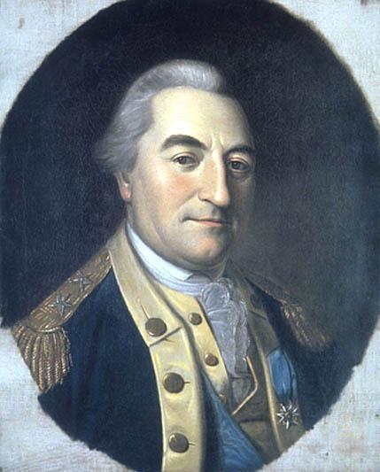 Johann von Kalb alias Jean de Kalb, Baron de Kalb (1721-1780). Officier au Régiment de Loewendal, lieutenant-colonel, espion au service de Louis XV dans les colonies anglaises d'Amérique, major-général de l'Armée Continentale en 1777, Chevalier de l'Ordre du Mérite, mortellement blessé à la bataille de Camden en 1780. Il avait épousé la riche héritière Anna Elisabeth Emilie van Robais, d'Abbeville, dont il eut 3 enfants.