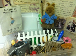 Peter Rabbit Sensory Tub from Handmade by CJ