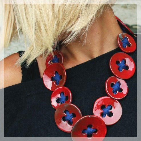 Collana Bottoni rossi