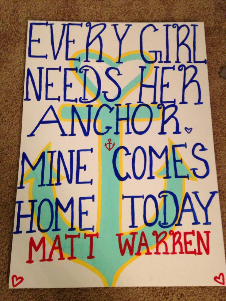 Navy homecoming sign @alysiamakayla I thought of you and Holden.