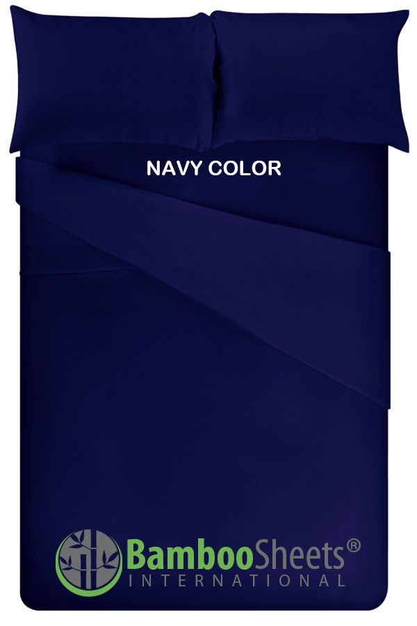 Bamboo Sheets King Size Navy