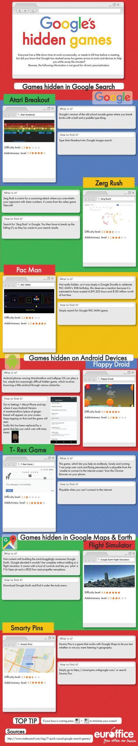 #Prokastination: #Google's Hidden #Games