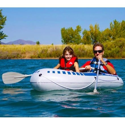 Airhead AHIB2 2 Person Inflatable Boat, Black