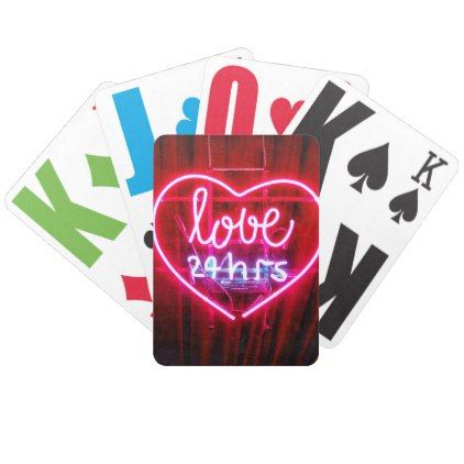 Love 24 Hours Bicycle Playing Cards - girly gift gifts ideas cyo diy special unique